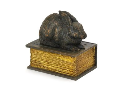 Beautiful figurine rabbit urns and keepsakes for pet rabbit ashes. Can be personalised.