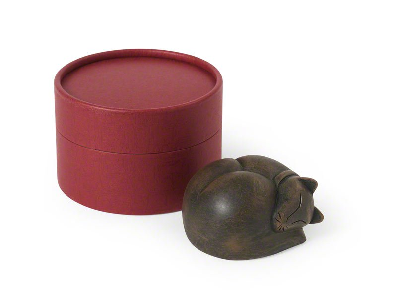 Sleeping Cat Keepsake Urn