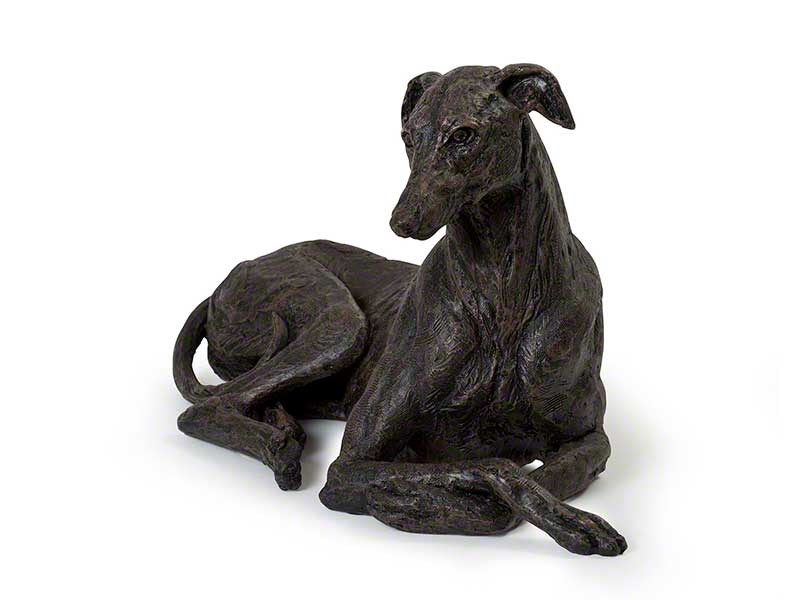 Beautiful figurine Greyhound dog urns for pet dog ashes. Can be personalised.
