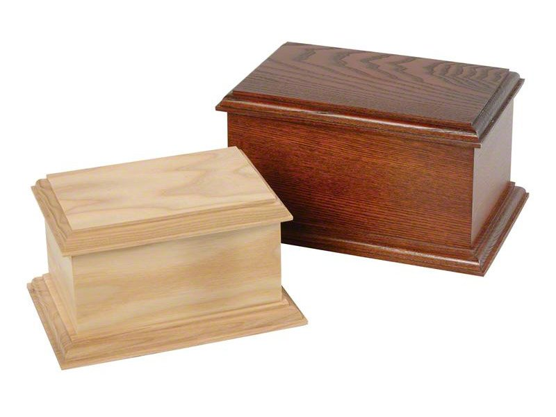 Beautiful wooden casket ashes urn. Pet urns for dog, cat or horse keepsake and memorials. May be personalised.