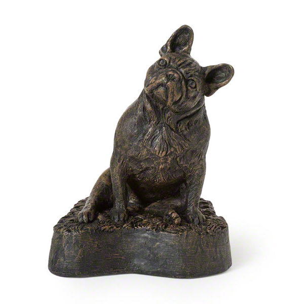 Beautiful figurine French Bulldog urns for pet dog ashes. Can be personalised.