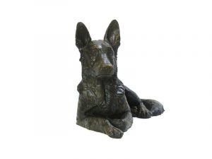 Beautiful figurine German Shepherd dog urns for pet dog ashes. Can be personalised.