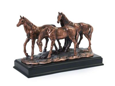 "Horse Keepsake Urn ""Friends Together"""