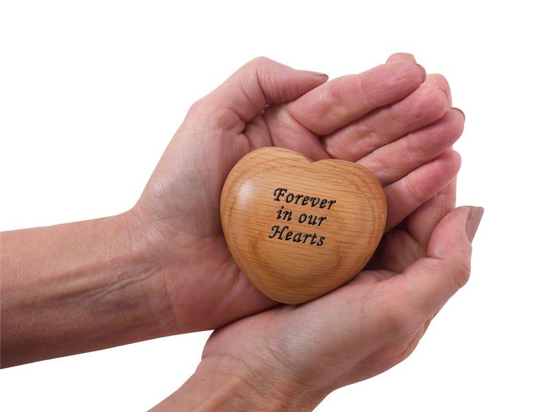 Engravable solid wood ashes keepsake. Tactile and beautiful memorial for you to personalise. Holds photo, ashes, lock of hair or small mementos