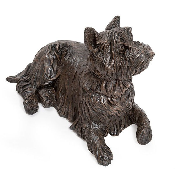 Beautiful figurine West Highland Terrier dog urns for pet dog ashes. Westie Cairn Wheaten. Can be personalised.