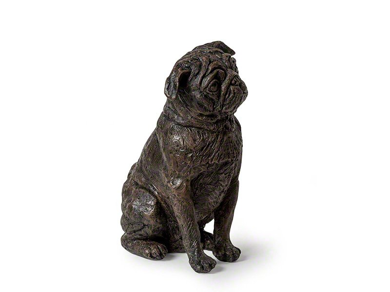 Beautiful figurine Pug dog urns for pet dog ashes. Can be personalised.