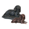 Beautiful figurine Cavalier King Charles Spaniel urns and keepsakes for pet CKCS dog ashes. Can be personalised.
