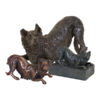 Beautiful figurine Border Collie urns and keepsakes for pet dog ashes. Can be personalised.
