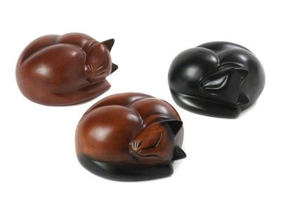 Sleeping Cat Urns