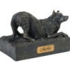Beautiful figurine Border Collie urn for pet dog ashes. Can be personalised.