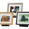 Beautiful oak, silver and black pod frame urns. For pet dog, horse, cat ashes. Can be personalised.
