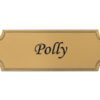 brass effect self adhesive engraved flexi plaque for personalisation.