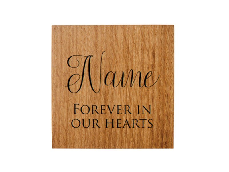 We can engrave your pet's name and your message to personalise their urn keepsake or memorial