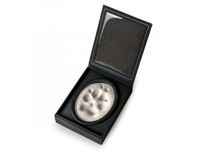 A Lasting Impression pawprint imprint set 3D 3-dimensional paw print keepsake in personalisable photo display case. Soft, non-toxic air-dry impression material. Keepsake photo memorial for pets.
