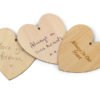 Wooden heart shaped message tags to attach to urns or as keepsakes. Can be engraved, personalised or decorated.
