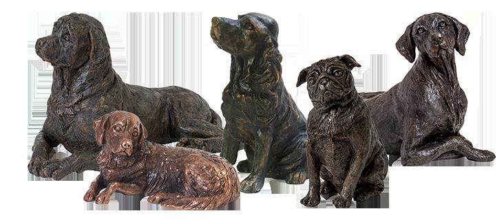 Dog Figurine Urns